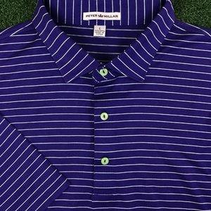 Peter Millar Men's Purple Neon Green Golf Cotton